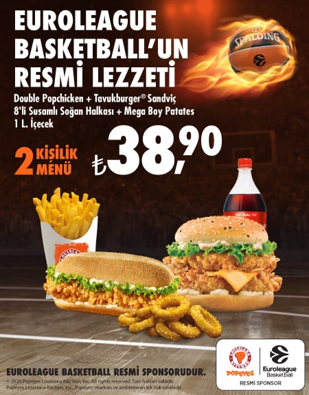 Popeyes<sup>®</sup> Euroleague Menü