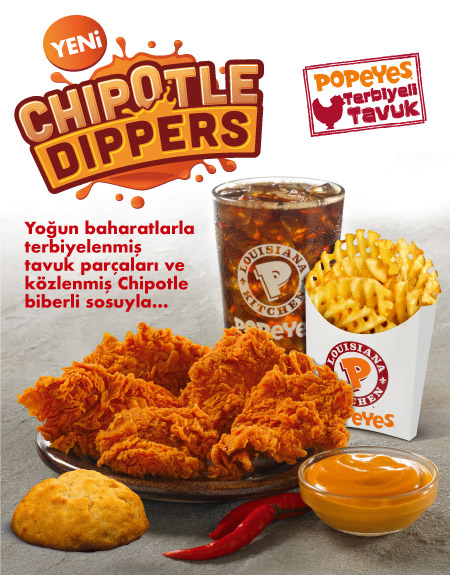 Yeni! Chipotle Dippers Menü